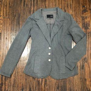 Hurley Gray Blazer Sweatshirt Jacket Medium Grey